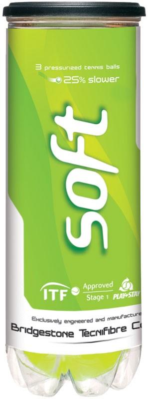 Tennisballen Tecnifibre Play & Stay Green 3 st.-0