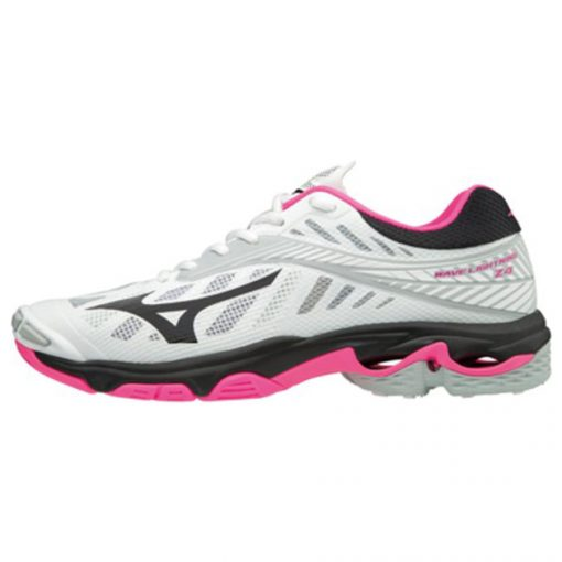 Mizuno Wave Lightning Z4 Dames Volleybalschoen Wit Zwart Roze