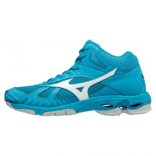 Mizuno Wave Bolt 7 MID Heren Indoorschoenen Blauw Wit