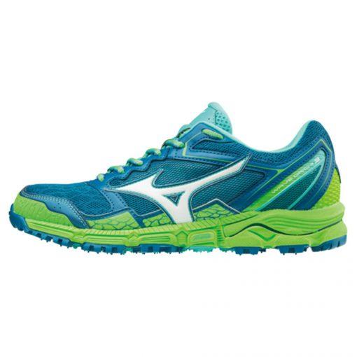Mizuno Wave Daichi 3 Dames Hardloopschoenen Blauw Groen Turquoise