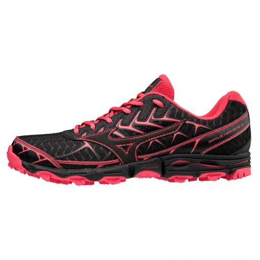 Mizuno Wave Hayate 4 Dames Hardloopschoenen Zwart Roze
