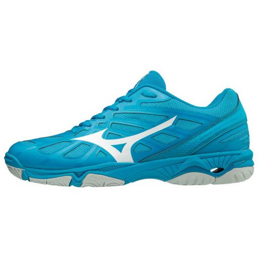 Mizuno Wave Hurricane 3 Heren Indoorschoenen Blauw Wit