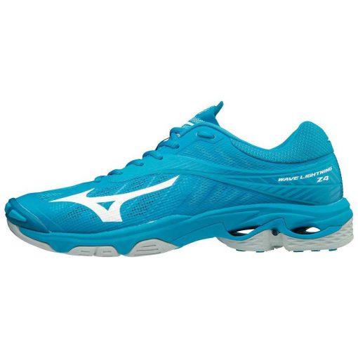Mizuno Wave Lightning Z4 Heren Indoorschoenen Blauw Wit