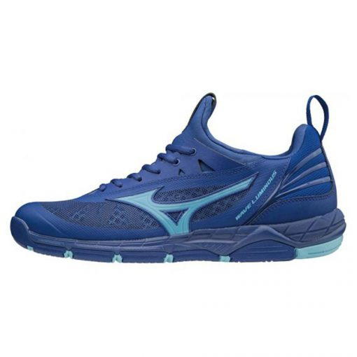 Mizuno Wave Luminous Heren Indoorschoenen Blauw Turquoise